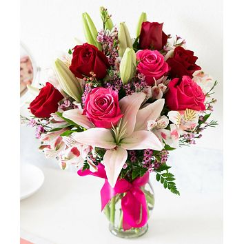 Blooms of Roses & Lilies