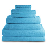 Luxor Linens Jaen-Martos Towels (8 PC) - Bright Blue