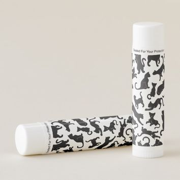 Black Cat Pattern Lip Balm