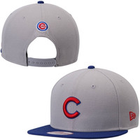Chicago Cubs New Era 2-Tone 9FIFTY Adjustable Hat – Gray/Royal Blue