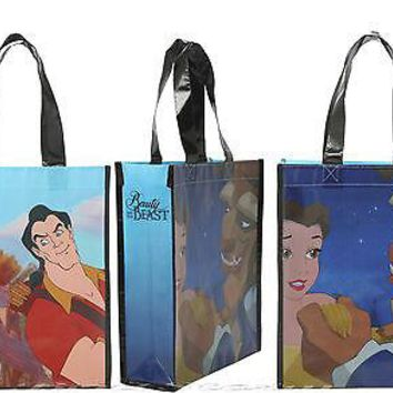 Licensed cool Disney Princess BELLE GASTON BEAUTY & BEAST Reusable Grocery Shopping Tote Bag