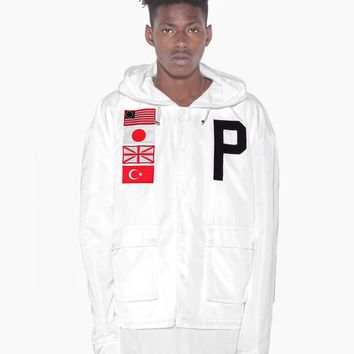 Four-Flag Worldwide Tech Parka in White