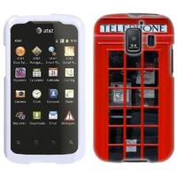 Huawei AT&T Fusion 2 Red British Phone Booth Phone Case Cover