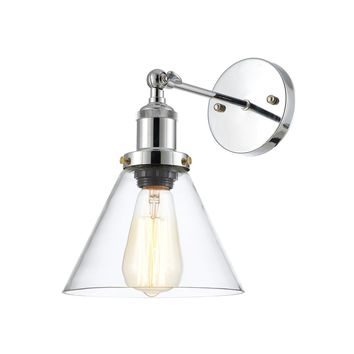 Edison Vintage Light Sconce - Bulb Included, Clear/Antique Brass