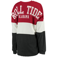 Alabama Crimson Tide Women's Tri-Sweeper Long Sleeve T-Shirt - Crimson