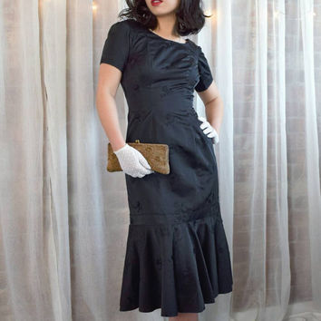 Vintage Early 60s Evening Bombshell Dress