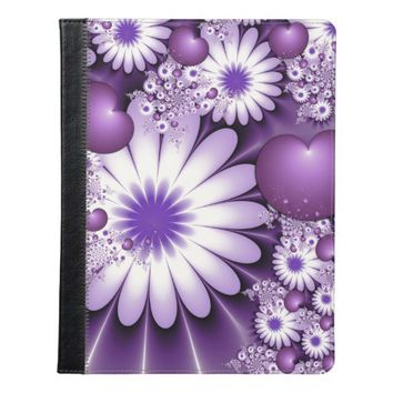 Falling in Love Abstract Flowers & Hearts Fractal iPad Case