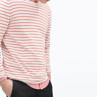 Fine knit striped sweater