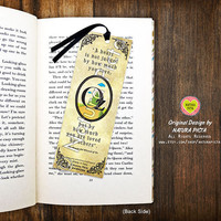 Tin man The wonderful wizard of Oz quote Bookmark-Oz bookmark-Tin man quote bookmark-Custom Bookmark-Bookmark-Design by Natura Picta BKMK004