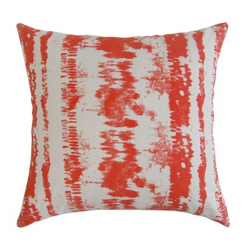 Tie-Dye Square Printed Accent Pillow Cover - Amber