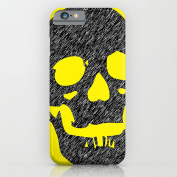 Grunge Skull iPhone & iPod Case by Superlust
