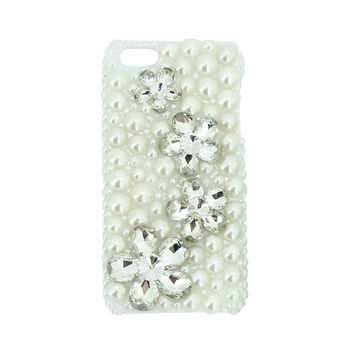 Pearl Rhinestones iPhone Cases - Models 4, 4S, & 5