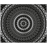 Mandala Tapestry Black/White One Size For Women 27324612501