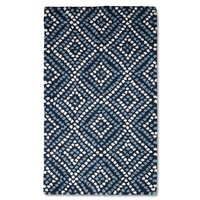 Threshold™ Tile Print Hand Hooked Kitchen Rug - Blue