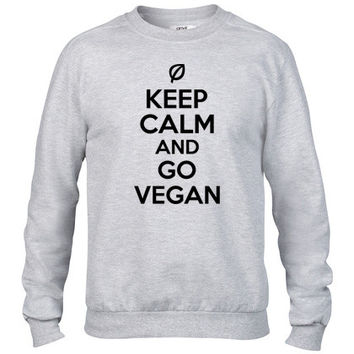 Keep calm and go vegan Crewneck sweatshirt
