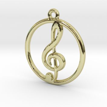 Treble Clef Pendant by Jilub on Shapeways