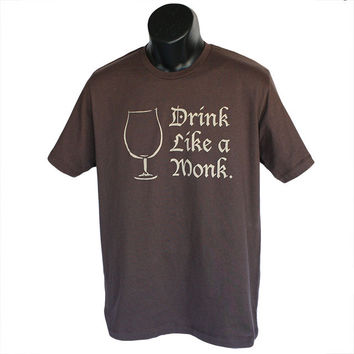 Beer Lovers T-Shirt - Drink Like a Monk
