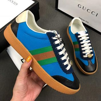 GUCCI Old Skool Woman Men Fashion Flats Shoes