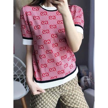 GUCCI GG knit top