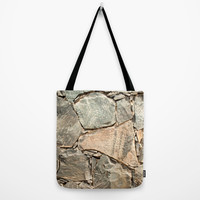 Cracked Slate Wall Tote Bag by Essentialimage(™)