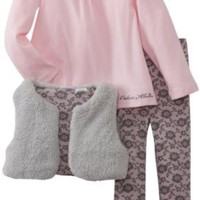 Amazon.com: Calvin Klein Girls 2-6X Small Vest With Pink Top And Printed Legging, Gray, 3T: Clothing