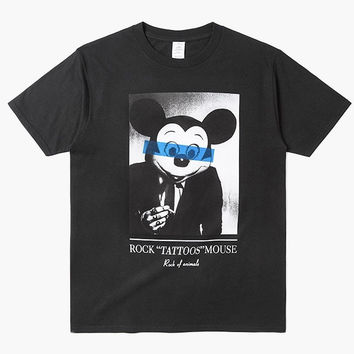"Rock ""Tattoos"" Mouse T-Shirt"