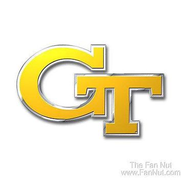 Georgia Tech Yellow Jackets 3D COLOR Chrome Auto Emblem Home Decal University of