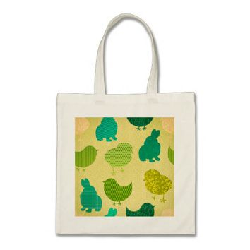 Lemon Lime Easter Chicks Texture Budget Tote