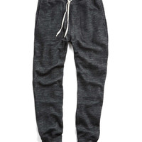 Wool-Cotton Double Knit Slim Sweatpant in Charcoal