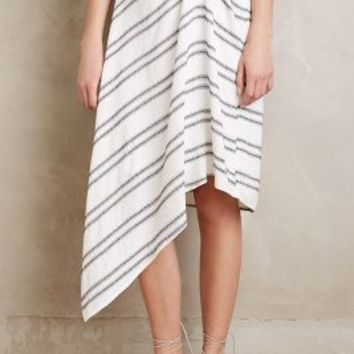 Eva Franco Traced Stripe Skirt in Black & White Size: