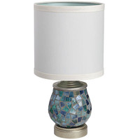 Helena Mosaic Mini Lamp - Blue