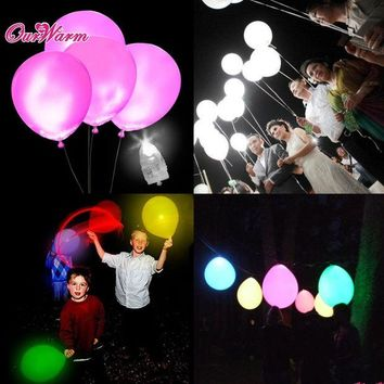 DKF4S 50pcs/lot White LED Lamps Balloon Lights LED Balloon Light for Wedding Decoration Birthday Party Product Event Party Supplies