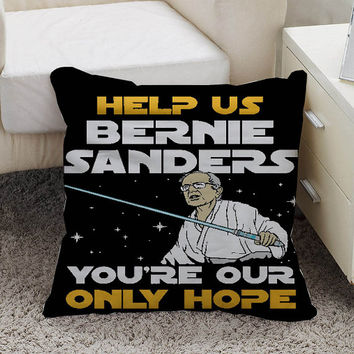 star wars bernie sanders Pillow case size 16 x 16, 18 x 18, 16 x 24, 20 x 30, 20 x 26 One side and Two side