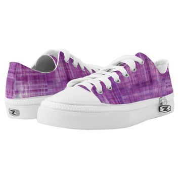 Purple Color Art Abstract Stripes Pattern Printed Shoes