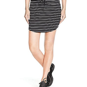 Lauren Ralph Lauren Petite Striped Skort - Black/White