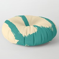 Emerald Forest Floor Pillow by spaceandlines