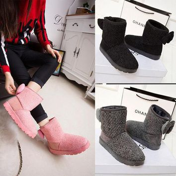 ICIK0OQ Hot Deal On Sale Anti-skid Winter Round-toe Suede Boots [9432933962]