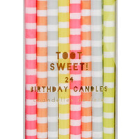 Color Stripe Birthday Candles