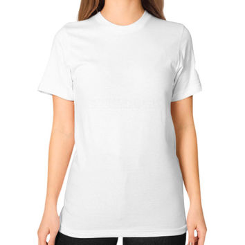 TURBOS EXHAUST GASES Unisex T-Shirt (on woman)