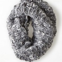 AEO Women's Shimmery Marled Snood (Charcoal)