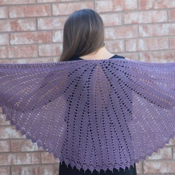 Diamond & Teardrop Shawl Knitting Pattern PDF