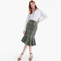 Trumpet skirt in lemon jacquard : Women just in | J.Crew
