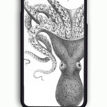 iPhone 6S Case - Hard (PC) Cover with Octopus  Plastic Case Design