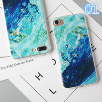 Back Cover For Apple Iphone 7 TPU Capa Silicon Soft Colorful Sky Sea Moon Patterns Painted Phone Case For Iphone 7 Case -0405