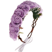 Rock 'N Rose Rock 'n' Rose Penelope Oversized Purple Floral Crown Head Band
