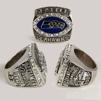 2005 Seattle Seahawks Super Bowl Championship Ring Big Size 11, 2015 Fashion Custom Championship Ring