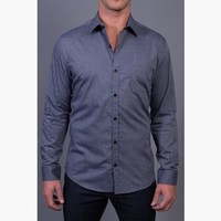 {Modern English} Chambray Dress Shirt in Worn Navy
