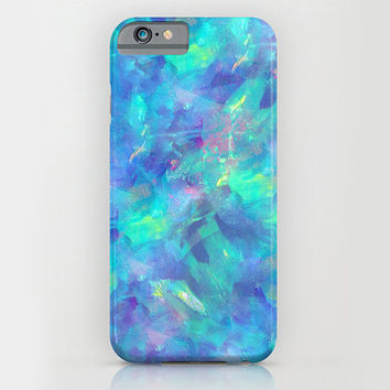 Samsung Galaxy S5 Galaxy S4 iPhone 6 iPhone 6 Plus iPhone 5 iphone 5s iphone 5c iphone 4 iphone 4s iPhone 3 Phone Case. Blue Opal Phone Case