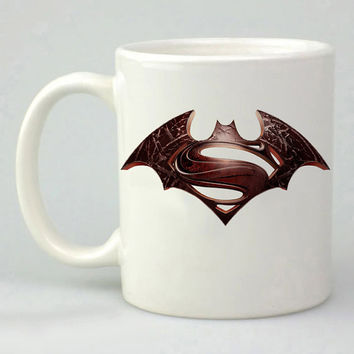 batman and superman logo design for mug, ceramic, awesome, good,amazing