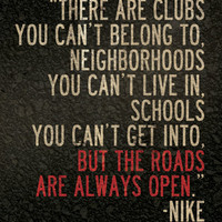 "Nike Running Quote 8"" x 10"" Poster // All Proceeds go to Haiti"